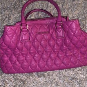 nice pink leather vera bradley purse